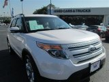 2013 White Platinum Tri-Coat Ford Explorer Limited EcoBoost #94394696