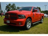 2014 Flame Red Ram 1500 Sport Crew Cab 4x4 #94515605