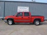 2005 Victory Red Chevrolet Silverado 1500 Z71 Crew Cab 4x4 #9452344