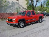 2006 Victory Red Chevrolet Silverado 1500 Z71 Extended Cab 4x4 #9452295