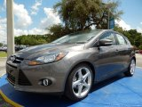 2014 Sterling Gray Ford Focus Titanium Hatchback #94552980