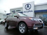 2011 Dark Cherry Pearl Acura MDX Technology #94592577