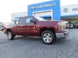 2014 Deep Ruby Metallic Chevrolet Silverado 1500 LT Double Cab #94592345