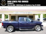 2012 True Blue Pearl Dodge Ram 1500 SLT Quad Cab 4x4 #94639058