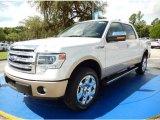 2014 White Platinum Ford F150 Lariat SuperCrew 4x4 #94639031