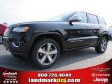 2014 Brilliant Black Crystal Pearl Jeep Grand Cherokee Overland #94701422