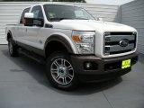 2015 White Platinum Ford F250 Super Duty Lariat Crew Cab 4x4 #94701542
