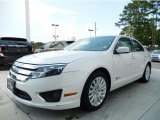 2010 White Platinum Tri-coat Metallic Ford Fusion Hybrid #94729637