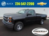 2014 Tungsten Metallic Chevrolet Silverado 1500 WT Regular Cab 4x4 #94729861