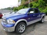 2014 Blue Streak Pearl Coat Ram 1500 Laramie Crew Cab 4x4 #94729837