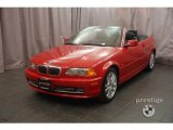 2002 Electric Red BMW 3 Series 330i Convertible #9461667