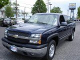 2005 Dark Blue Metallic Chevrolet Silverado 1500 Z71 Extended Cab 4x4 #9460025