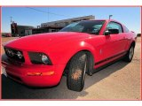 2007 Torch Red Ford Mustang V6 Deluxe Coupe #9473271