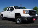 2007 Summit White GMC Sierra 2500HD SLE Extended Cab 4x4 #9462529