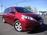 2011 Salsa Red Pearl Toyota Sienna LE #94902423