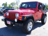 2006 Flame Red Jeep Wrangler Rubicon 4x4 #9471338