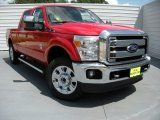 2015 Vermillion Red Ford F250 Super Duty Lariat Crew Cab 4x4 #94951142