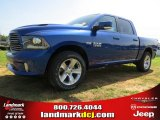 2014 Blue Streak Pearl Coat Ram 1500 Sport Crew Cab 4x4 #94997980