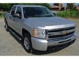 2011 Sheer Silver Metallic Chevrolet Silverado 1500 LS Crew Cab #95043030