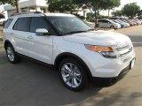 2014 White Platinum Ford Explorer Limited #95042565