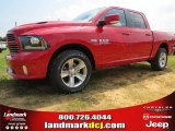 2014 Flame Red Ram 1500 Sport Crew Cab 4x4 #95116273