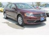 2014 Opera Red Metallic Volkswagen Passat 1.8T Wolfsburg Edition #95245222