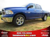 2014 Blue Streak Pearl Coat Ram 1500 Big Horn Crew Cab #95291913