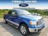 2014 Blue Flame Ford F150 XLT SuperCrew 4x4 #95331062