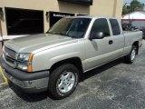2004 Silver Birch Metallic Chevrolet Silverado 1500 LS Extended Cab 4x4 #95363864