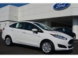 2015 Oxford White Ford Fiesta S Sedan #95363751