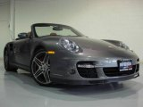 2008 Meteor Grey Metallic Porsche 911 Turbo Cabriolet #9463651