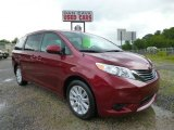 2011 Salsa Red Pearl Toyota Sienna LE AWD #95391293