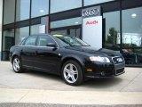 2008 Brilliant Black Audi A4 2.0T quattro S-Line Sedan #9242467