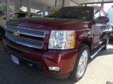 2013 Deep Ruby Metallic Chevrolet Silverado 1500 LTZ Crew Cab 4x4 #95469105