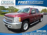 2013 Deep Ruby Metallic Chevrolet Silverado 1500 LT Crew Cab #95510955