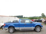 2014 Blue Flame Ford F150 XLT SuperCab 4x4 #95510509