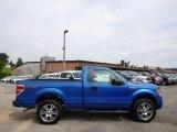 2014 Blue Flame Ford F150 STX Regular Cab 4x4 #95510505