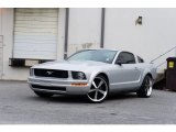 2007 Satin Silver Metallic Ford Mustang V6 Deluxe Coupe #95583614