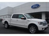 2014 White Platinum Ford F150 Platinum SuperCrew 4x4 #95608242