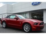 2014 Ruby Red Ford Mustang V6 Premium Convertible #95608240