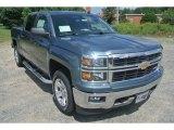 2014 Blue Granite Metallic Chevrolet Silverado 1500 LT Z71 Crew Cab 4x4 #95652989