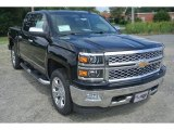 2014 Black Chevrolet Silverado 1500 LTZ Crew Cab 4x4 #95652986