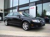 2008 Brilliant Black Audi A4 2.0T quattro S-Line Sedan #9242469