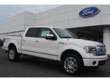2014 Ford F150 White Platinum