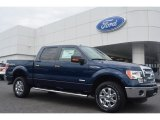2014 Blue Jeans Ford F150 XLT SuperCrew 4x4 #95695272