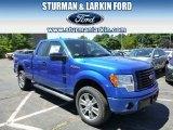 2014 Blue Flame Ford F150 STX SuperCab 4x4 #95734067