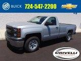 2014 Silver Ice Metallic Chevrolet Silverado 1500 WT Regular Cab 4x4 #95734419