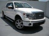 2014 White Platinum Ford F150 Lariat SuperCrew 4x4 #95734249