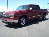 2006 Sport Red Metallic Chevrolet Silverado 1500 LS Crew Cab #9563866
