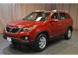2011 Spicy Red Kia Sorento LX AWD #95804129